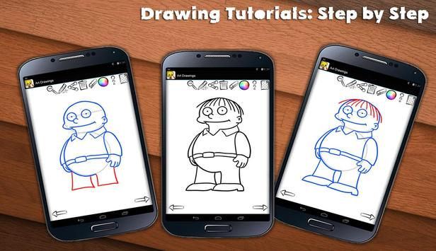 Learn To Draw Springfield screenshot 8