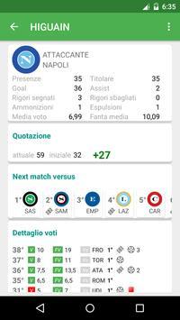 Fantacalcio Numbers apk screenshot