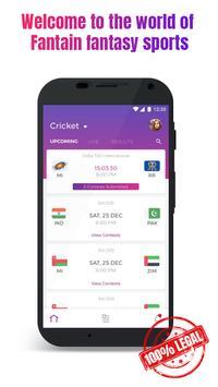 Fantain Fantasy Sports - Cricket and Kabaddi apk screenshot