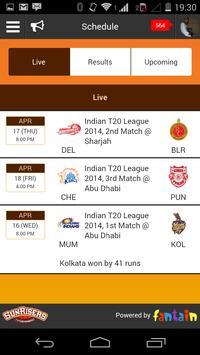 SunRisers Hyderabad apk screenshot