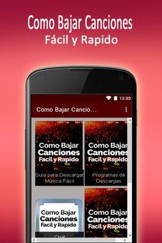 Como Bajar Canciones Gratis Y Rápido apk screenshot