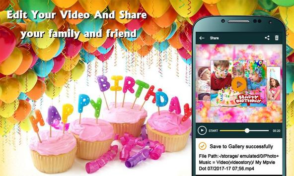 Birthday photos movie maker- Photos video maker screenshot 3
