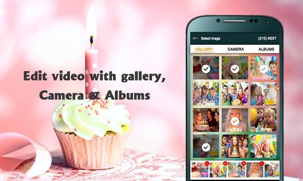 Birthday photos movie maker- Photos video maker poster