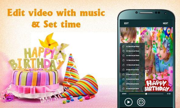 Birthday photos movie maker- Photos video maker screenshot 2