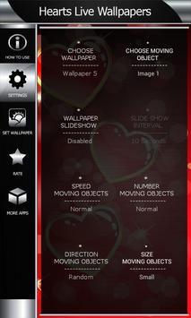 Hearts Live Wallpapers apk screenshot