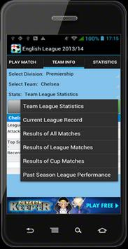 Fantasy English League 2013/14 apk screenshot