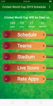 Cricket World Cup 2019 Schedule poster