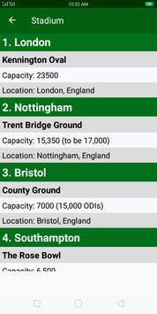 Cricket World Cup 2019 Schedule screenshot 4