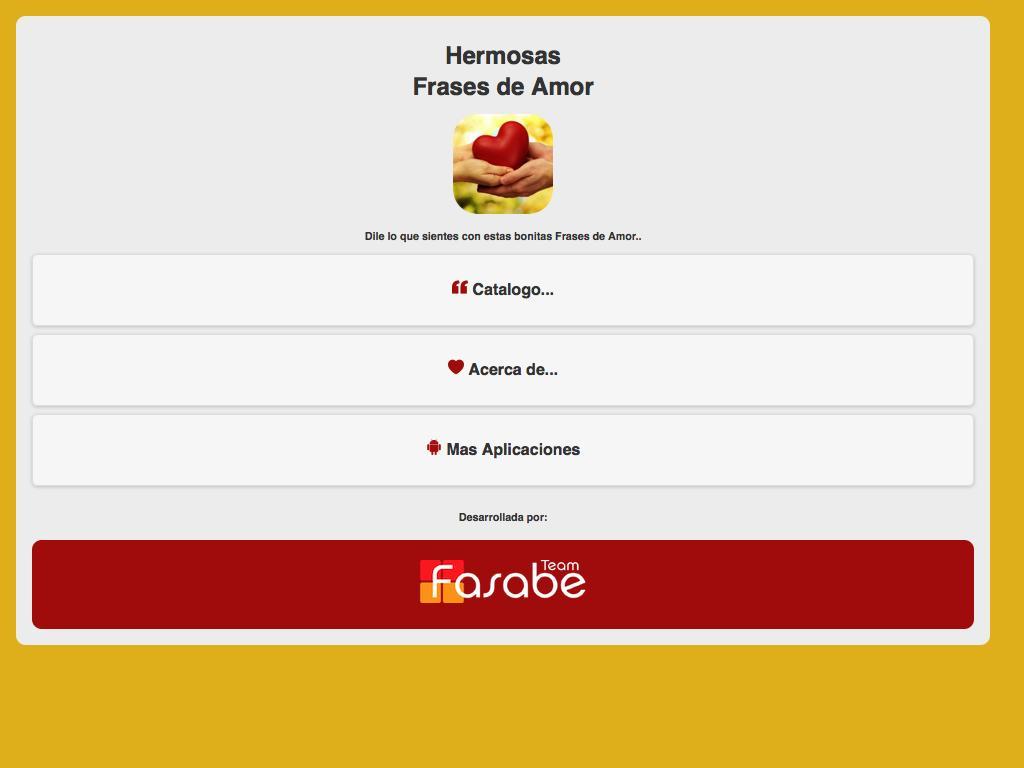 Hermosas Frases De Amor для андроид скачать Apk