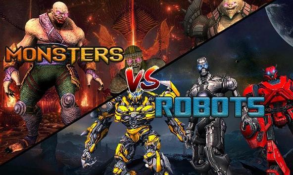 Monster vs Robot - Warriors Galaxy Battle 3D poster