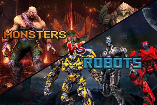 Monster vs Robot - Warriors Galaxy Battle 3D screenshot 8