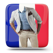 men suit fashion photo montage icon