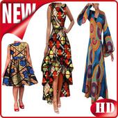 fashion african dress icon
