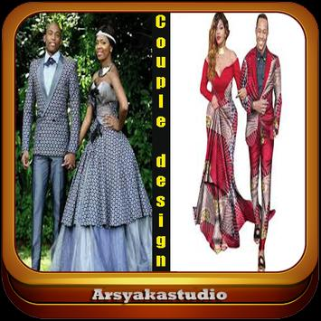 fashion couple african poster