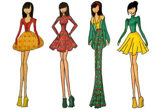 Fashion Designs Sketching screenshot 1