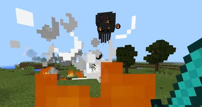 Mod 3 Headed Ghast Boss for MCPE poster