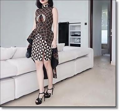 Fashion Model Trendy Batik poster