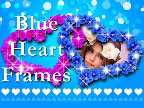 Blue Heart Photo Frames screenshot 5