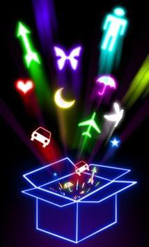 Glowing Drawings Art poster