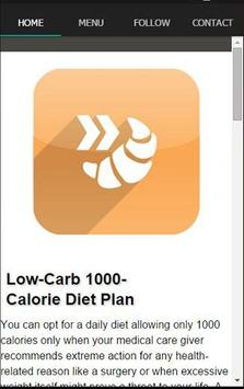 Fast And Slow Carbs Diet Plan screenshot 1