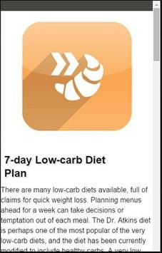 Fast And Slow Carbs Diet Plan screenshot 4