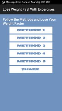 Lose Weight Fast Excercises apk screenshot