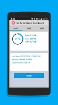 Fast Turbo Cleaner (RAM Boost) apk screenshot