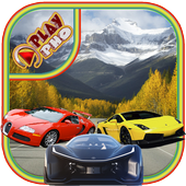 Fast Cars climbing hill icon