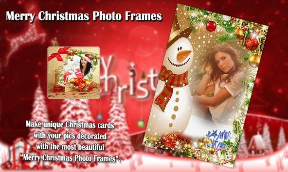 Merry Christmas Photo Frames poster