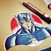 Draw Hero Captain America biểu tượng