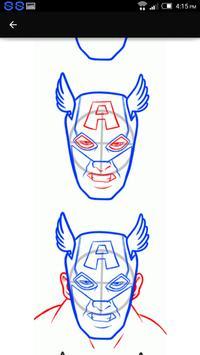 Draw Hero Captain America captura de pantalla 1