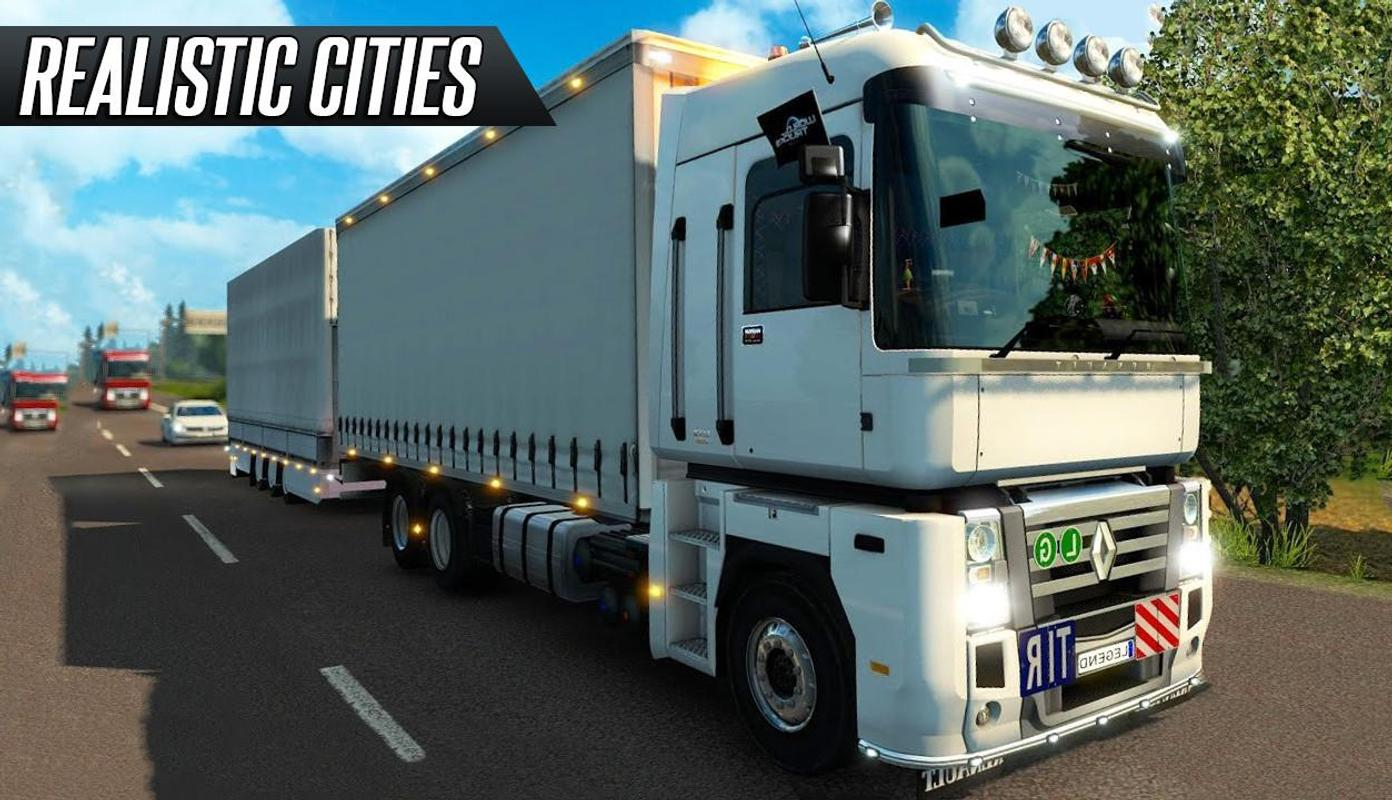 Euro Truck Driver 2018 is the most realistic truck driver simulator in which the player has to travel a lot and enjoy the terrain of various cities. The player is provided with a whole fleet of trucks, choosing one of them he can safely conquer the cities of Europe.