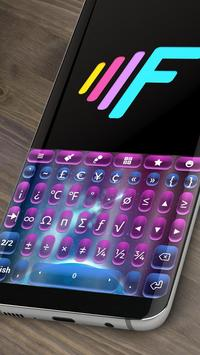 Galaxy Pretty Stars Animated Keyboard apk screenshot