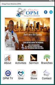 Omega Power Ministries (OPM) poster