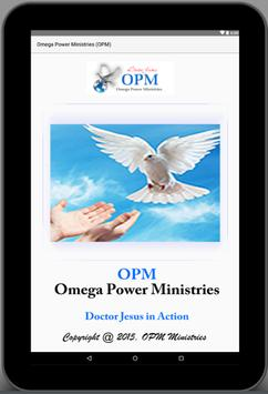 Omega Power Ministries (OPM) apk screenshot