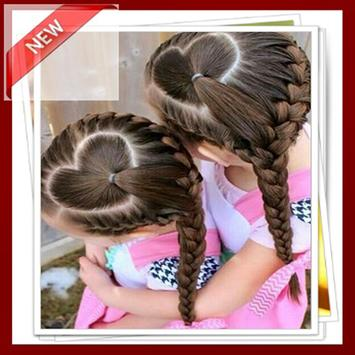 Hairstyle kids girl step by step poster