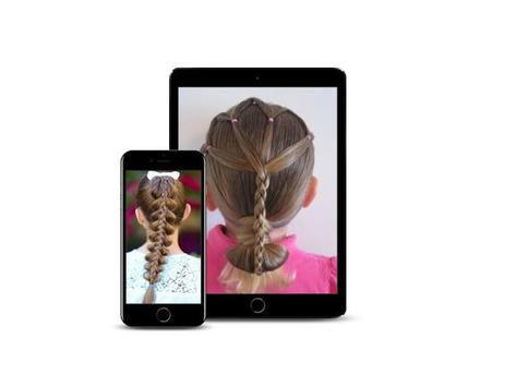 Hairstyle kids girl step by step screenshot 1