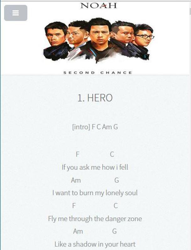 Chord Lagu Noah Apk Download Free Entertainment App For Android