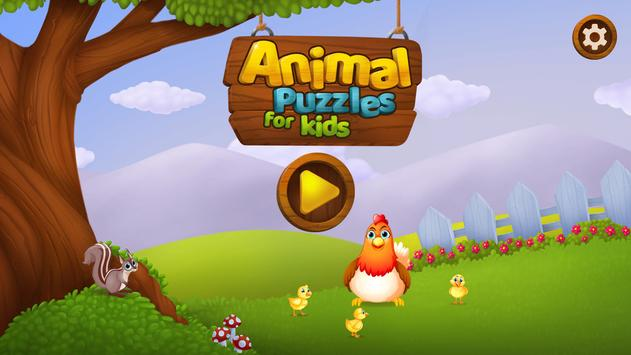 Animal Puzzles for Kids poster