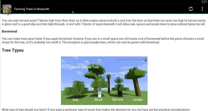 Farming Guide for Minecraft apk screenshot