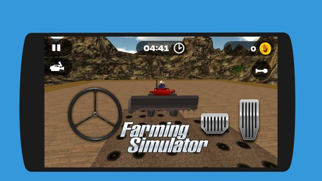 Real Tractor Farming Harvest  Simulator 3D poster