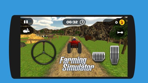 Real Tractor Farming Harvest  Simulator 3D screenshot 2