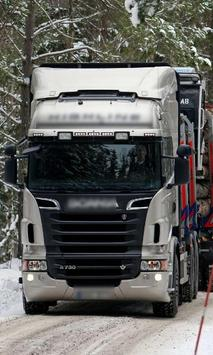 Themes Scania R730 Trucks poster