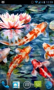 Magic Touch Koi Fish poster