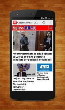 Gazeta Express - Lajmi Shqip screenshot 1