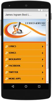 The Best Music & Lyrics James Ingram screenshot 1