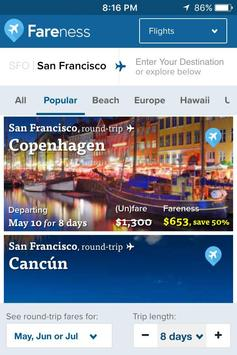 Fareness - Book Flights on the Cheapest Dates poster