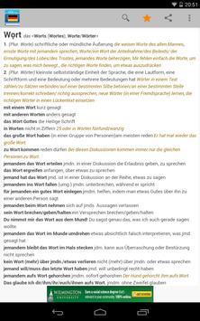 Deutsches Wörterbuch 스크린샷 10