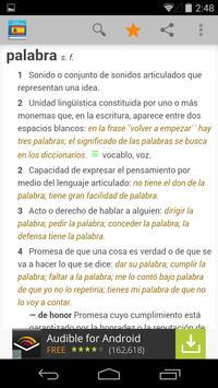 Diccionario de español apk screenshot