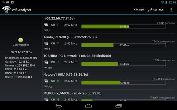 Wifi Analyzer captura de pantalla 10